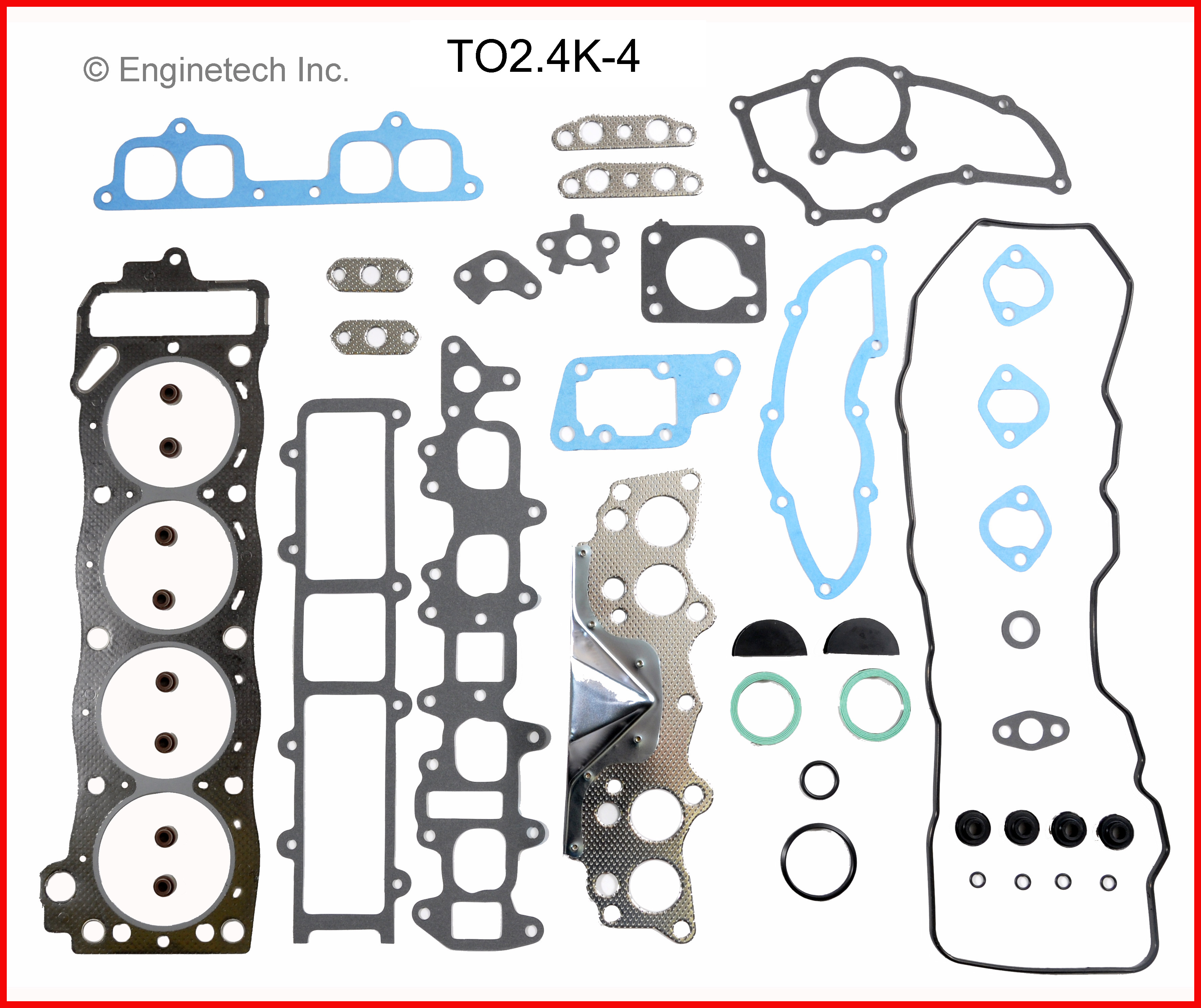 83-84 Toyota 2.4L Naturally Aspirated 22R,RE,REC Gasket Set
