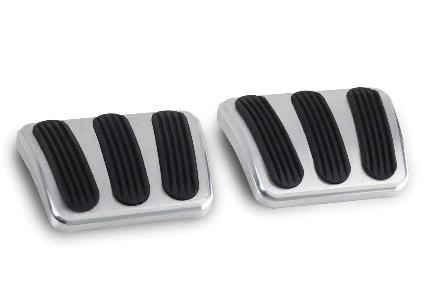 Lokar BAG-6132 Billet Aluminum Curved Brake/Clutch Pedal Pad Fits 64-67 Chevelle